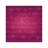 Decorative flower texture background with stripes in burgundy color