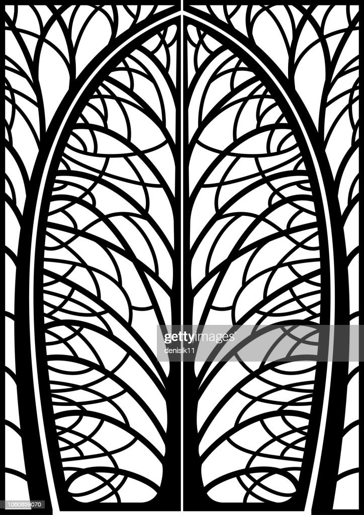 Decorative frame forged wicket branches