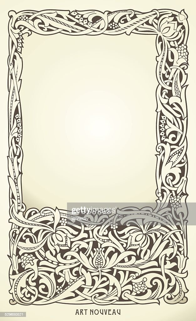 Decorative frame in art nouveau style.