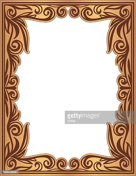decorative frame - embellishment stock illustrations