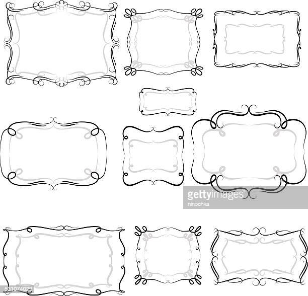 decorative frames - paper scroll stock illustrations, clip art, cartoons, & icons