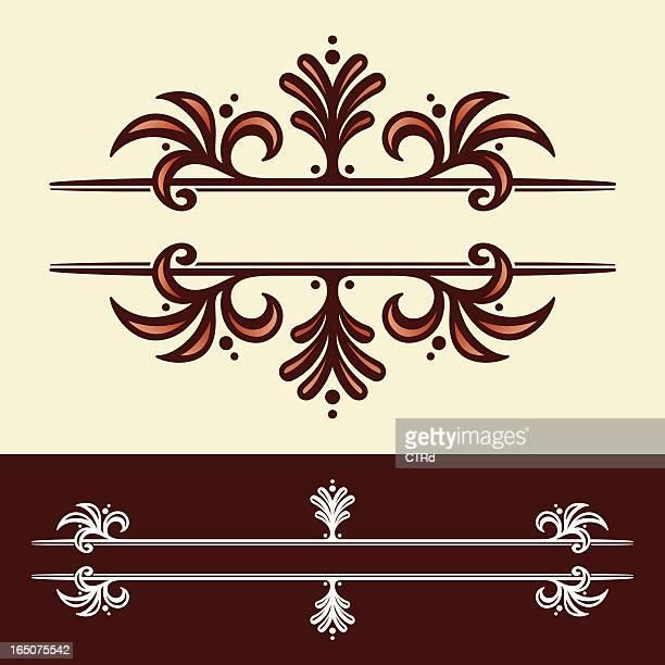 decorative header ornament - embellishment stock illustrations