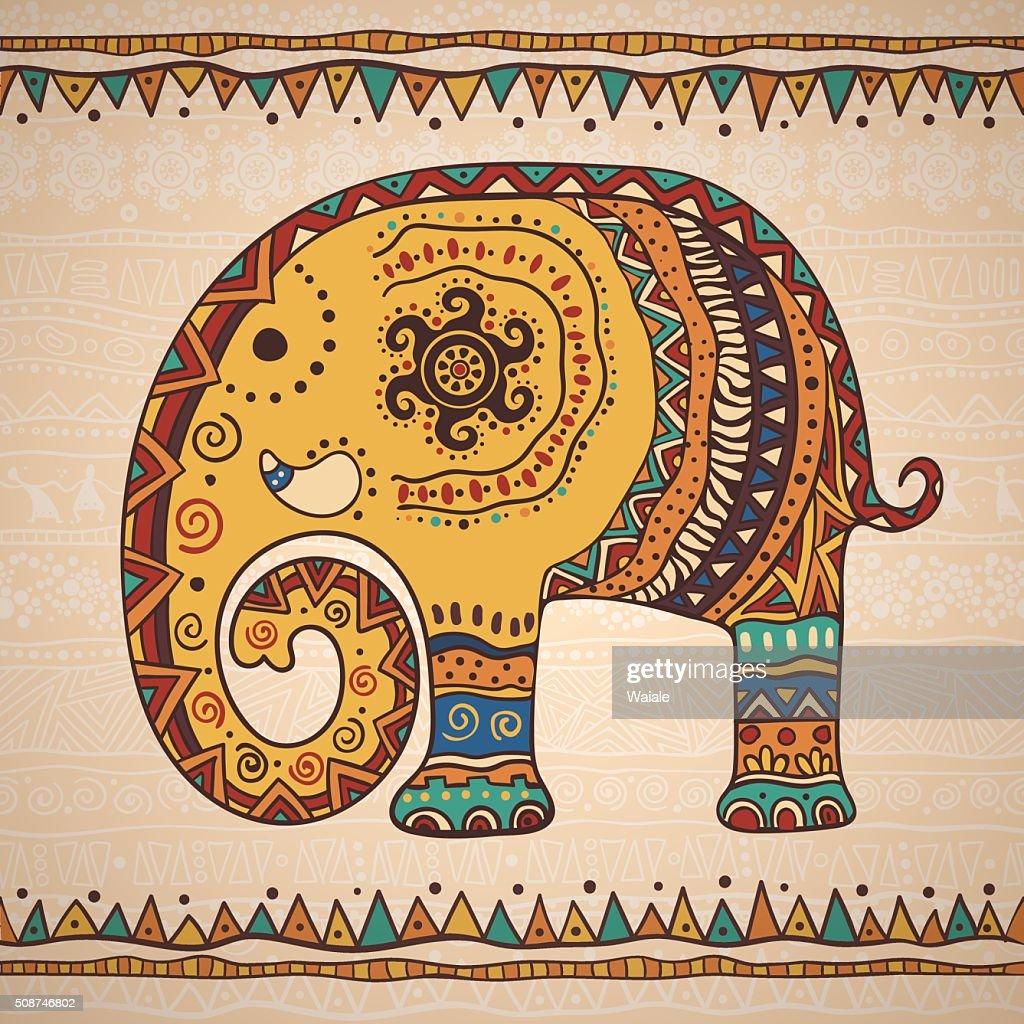 Decorative illustration elephant