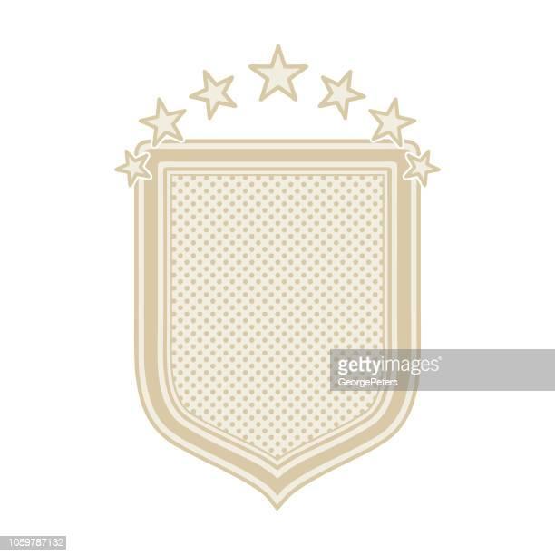 decorative label, flat design - desaturated stock illustrations, clip art, cartoons, & icons