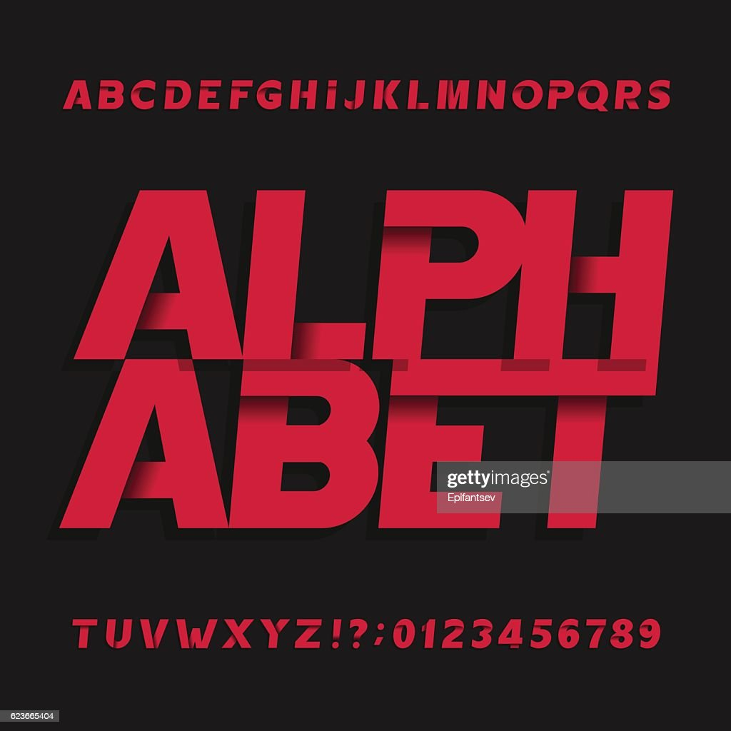 Decorative oblique alphabet vector font.