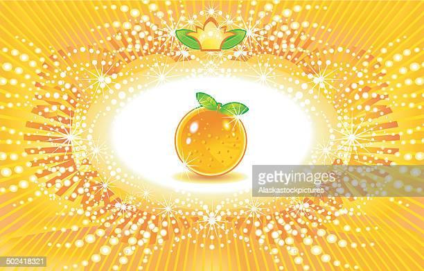 decorative orange background. - sonnig stock illustrations