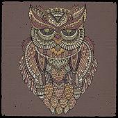 Decorative ornamental Owl