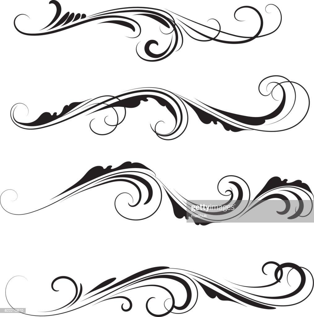 Decorative ornaments set : stock illustration