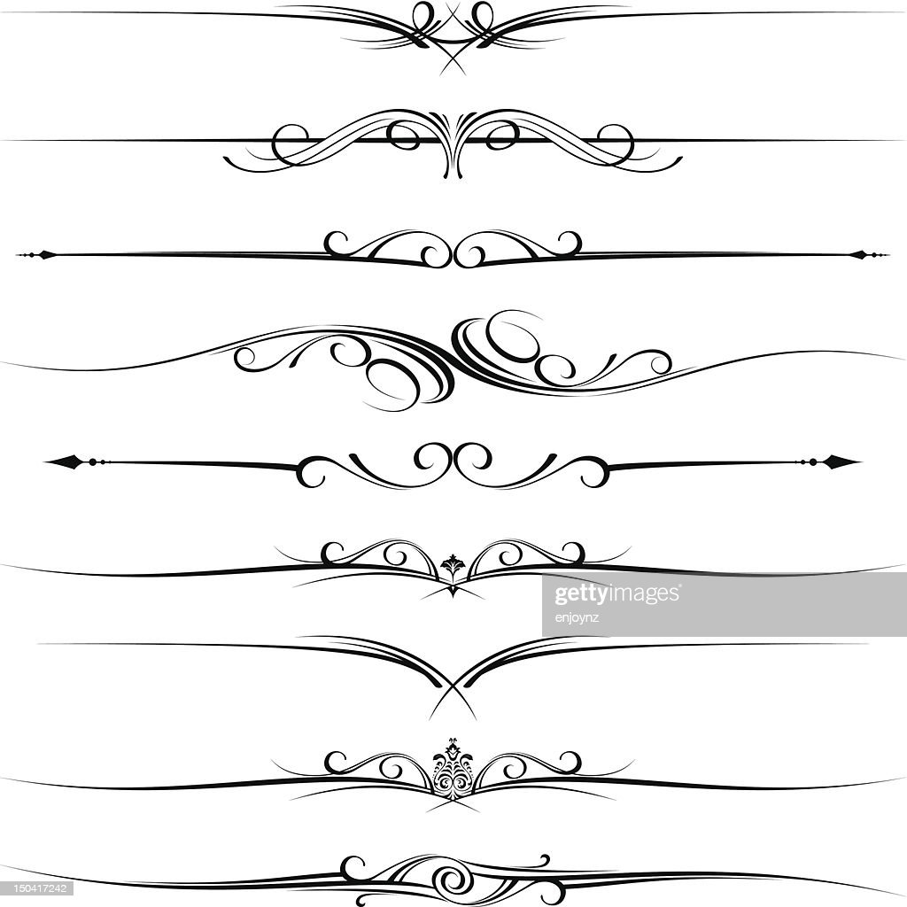 Decorative page rules : Vector Art