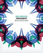 Decorative retro ornaments background