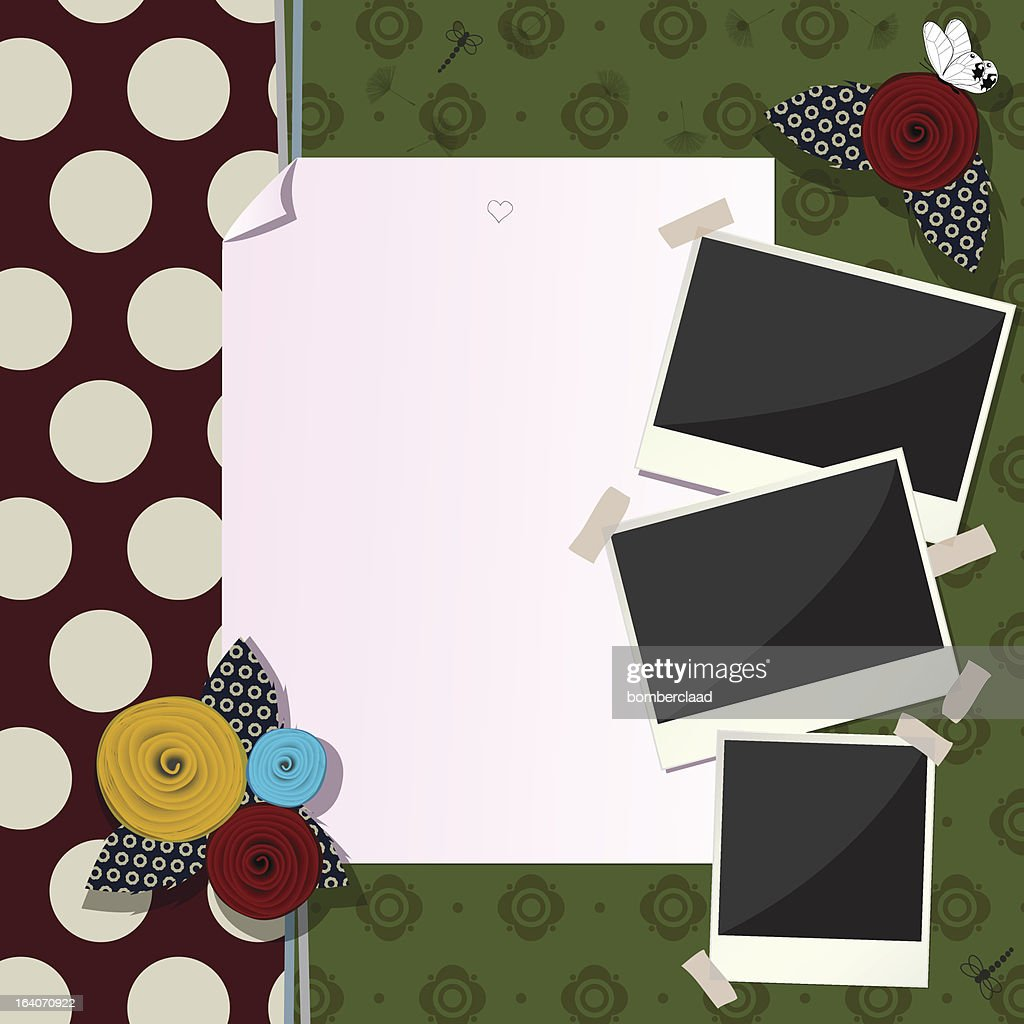 Decorative scrapbook composition