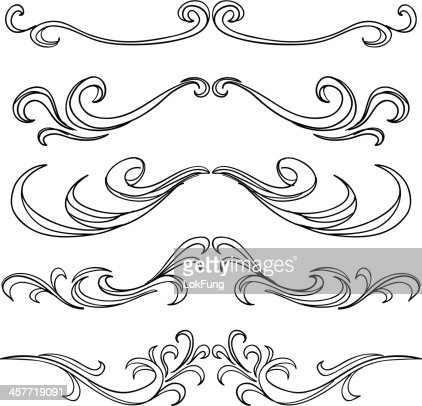 Decorative Scroll Frame In Black And White Vector Art   Getty Images