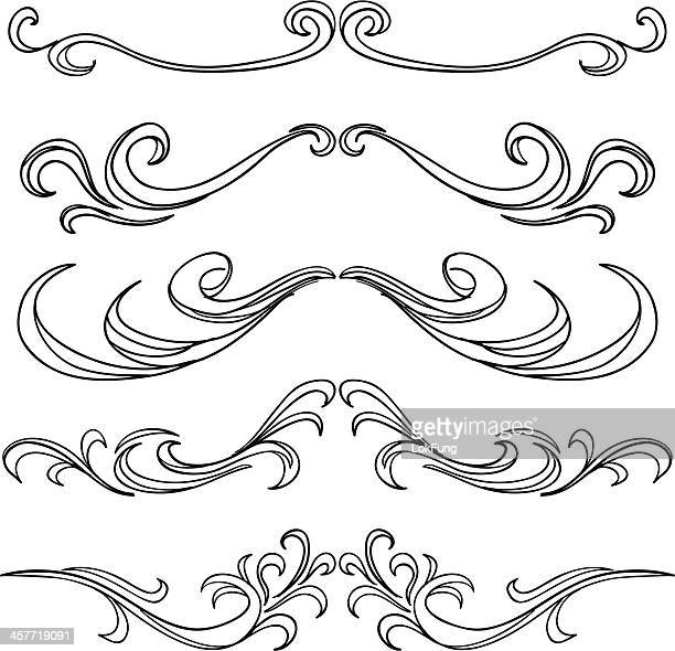 Decorative Scroll frame in black and white