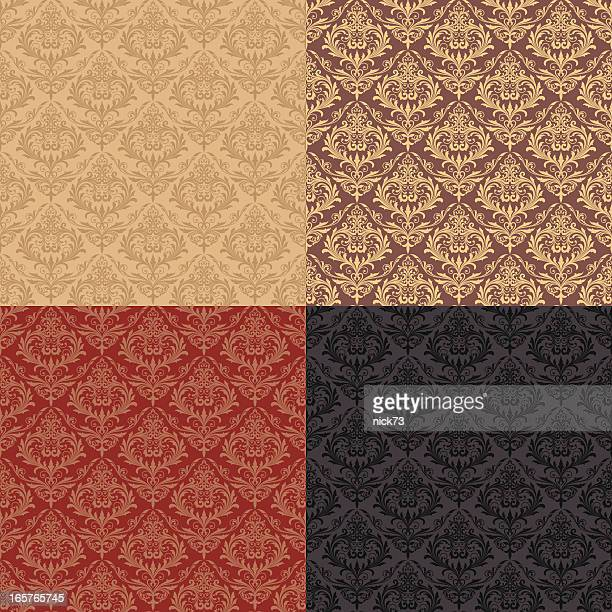 decorative seamless pattern - baroque style stock illustrations