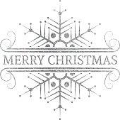 Decorative silver Christmas design element.