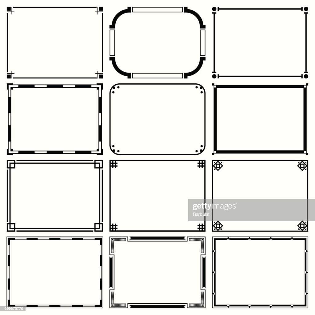 Decorative Simple Frames Vector Art | Getty Images
