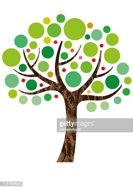 装飾的な小さな木のイラスト - 北ヨーロッパ点のイラスト素材/クリップアート素材/マンガ素材/アイコン素材
