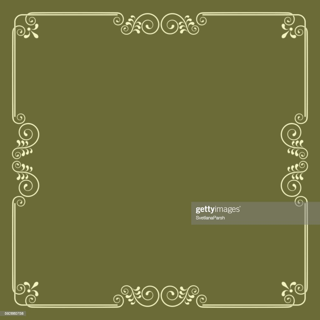 decorative square border vector art getty images