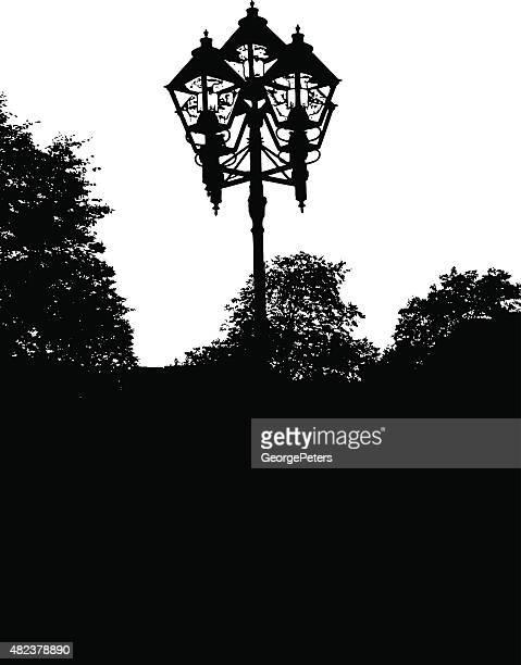 装飾 street のランプ - ガス燈点のイラスト素材/クリップアート素材/マンガ素材/アイコン素材
