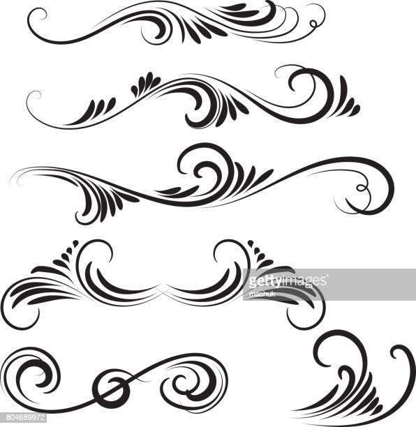 illustrations, cliparts, dessins animés et icônes de décoratif faire tourbillonner - fleur de lys