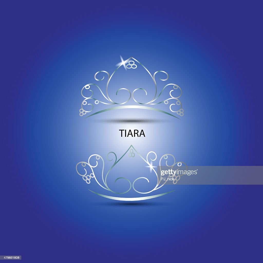 Decorative tiara in blue background