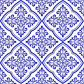 decorative tile background vector