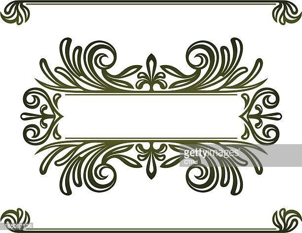 decorative titling elements - embellishment stock illustrations