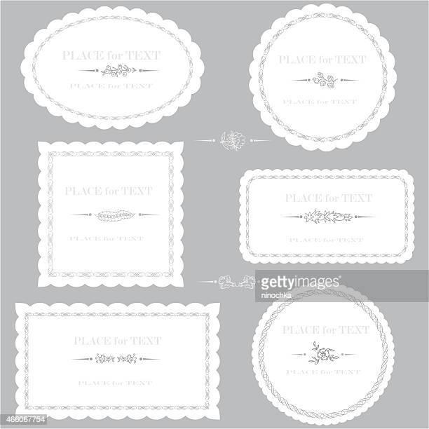 serviette の装飾 - レース生地点のイラスト素材/クリップアート素材/マンガ素材/アイコン素材