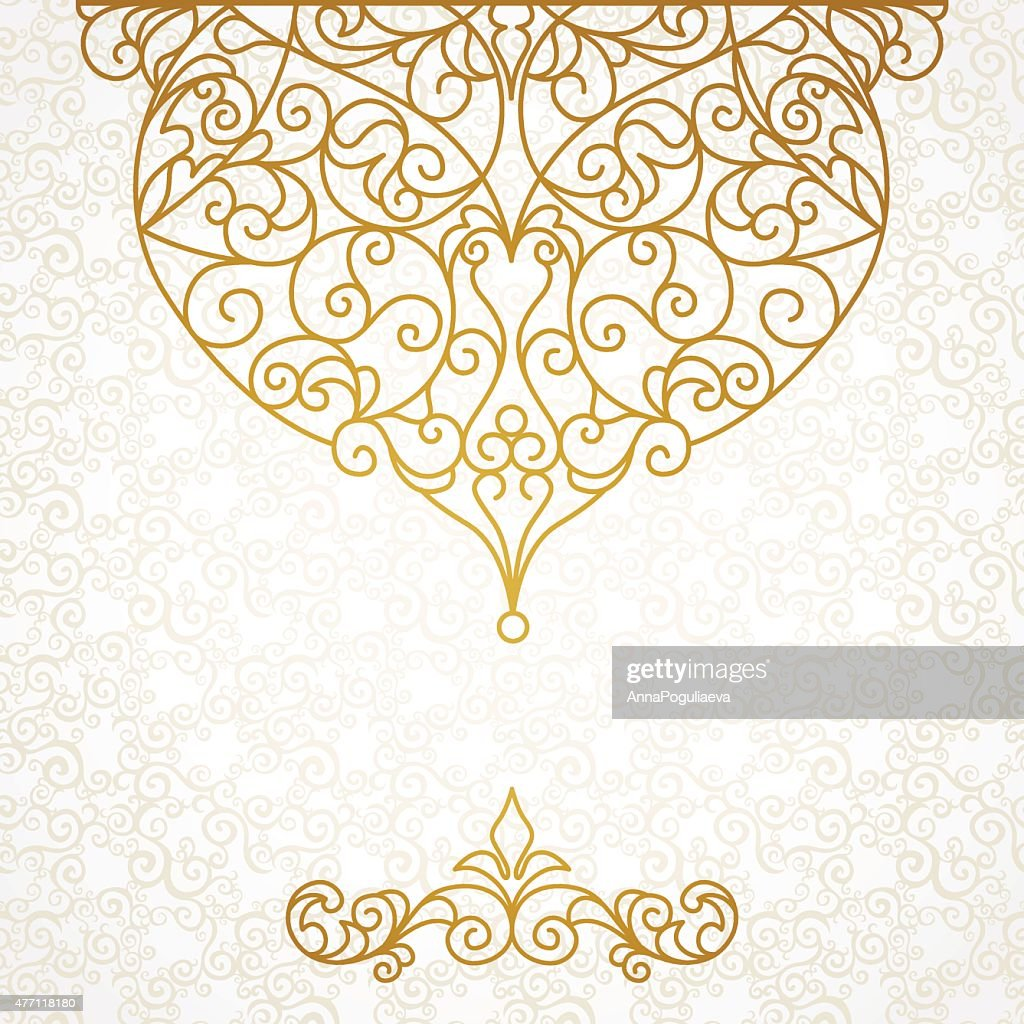 Decorative vector pattern for design template.