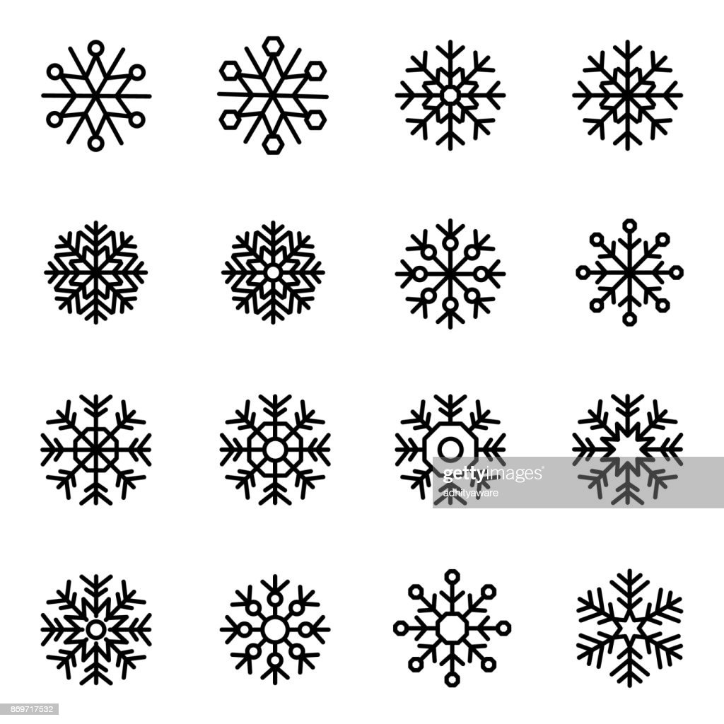Decorative vector Snowflakes set