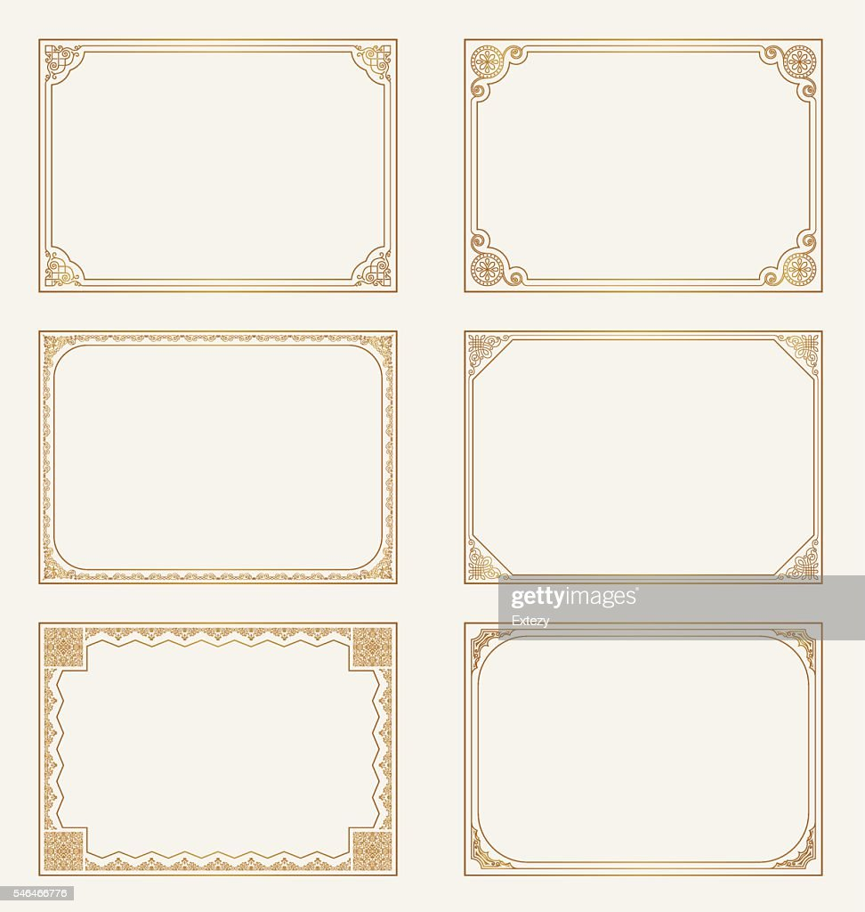 Decorative vector vintage frames and borders set