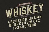 Decorative vector vintage retro typeface, font, alphabet letters