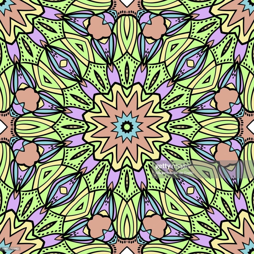 Decorative wallpaper for interior design. Modern geometric ornament. Seamless vector illustration