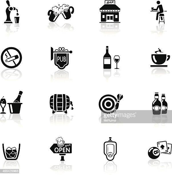 illustrations, cliparts, dessins animés et icônes de noir profond/série d'icônes bar et pub - seau