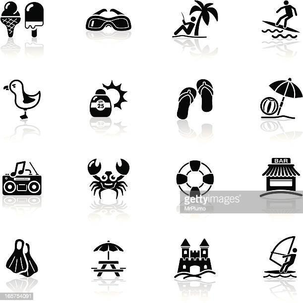 Deep Black Series | beach icons
