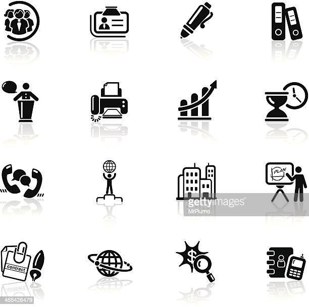 Deep Black Series | business icons