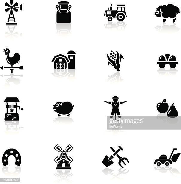 Deep Black Series | farm icons