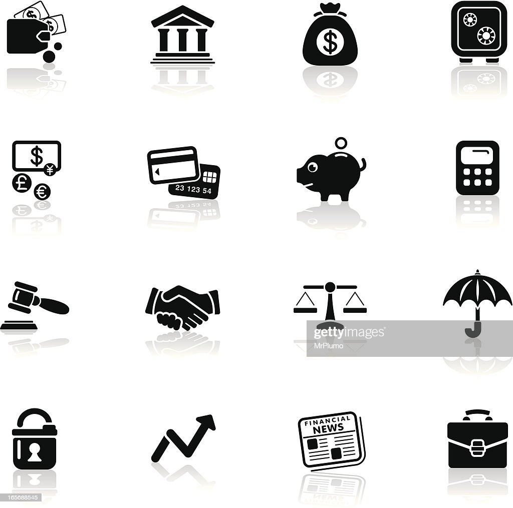 Deep Black Series | finance icons