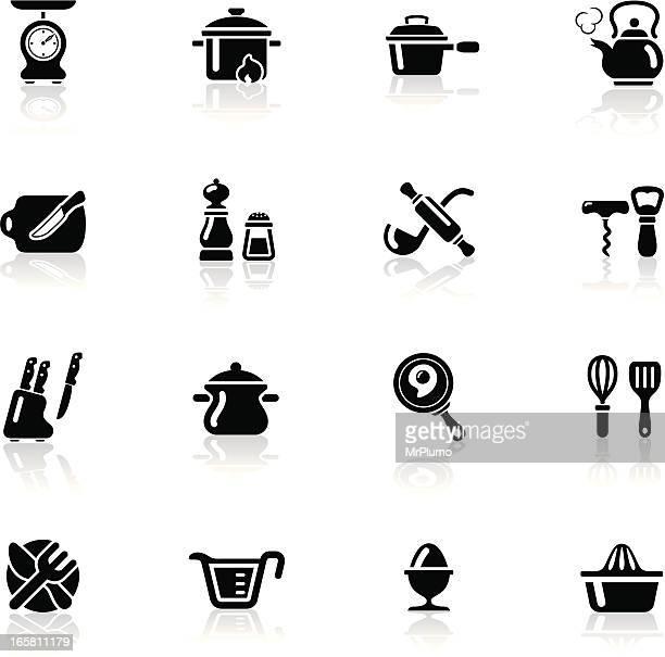 Deep Black Series   kitchen utensil icons