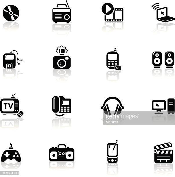 Deep Black Series | multimedia icons