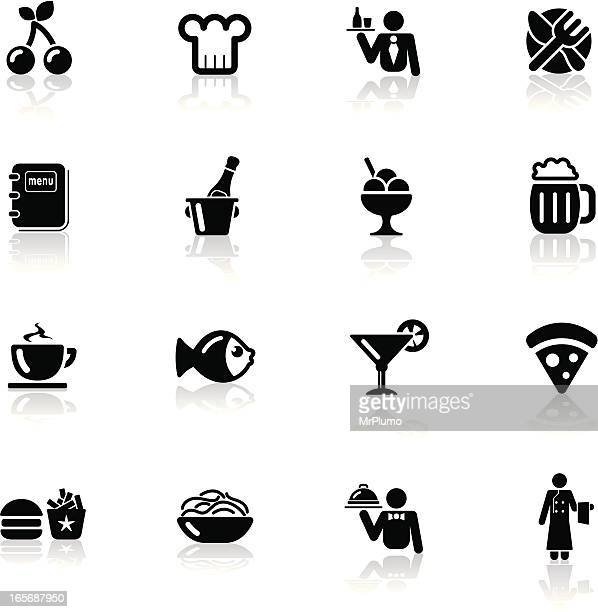 deep black series | restaurant icons - ice bucket stock illustrations, clip art, cartoons, & icons