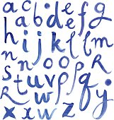 Deep blue alphabet