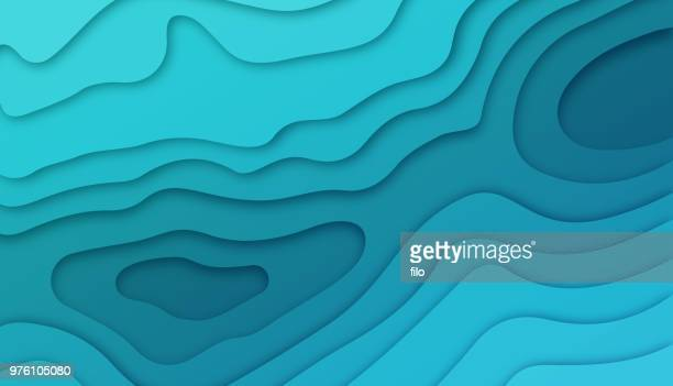 deep blue layers - digital composite stock illustrations