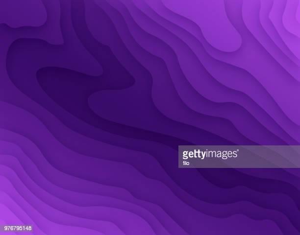 deep purple topographischen schichten - geschichtet stock-grafiken, -clipart, -cartoons und -symbole