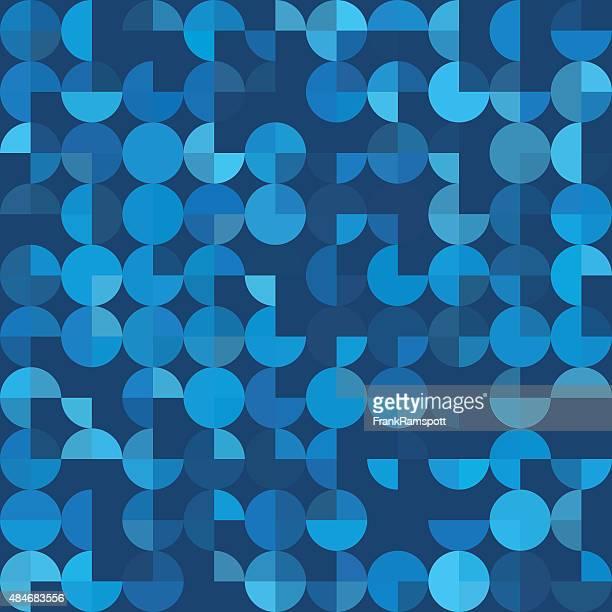 Deep Sea geometrischen Kreis Kuchen Muster Square