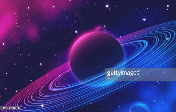 deep space planetary rings abstract background - milky way stock illustrations