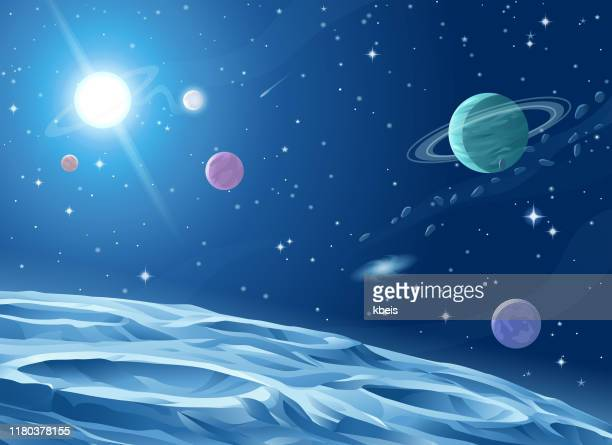 deep space - planet space stock illustrations