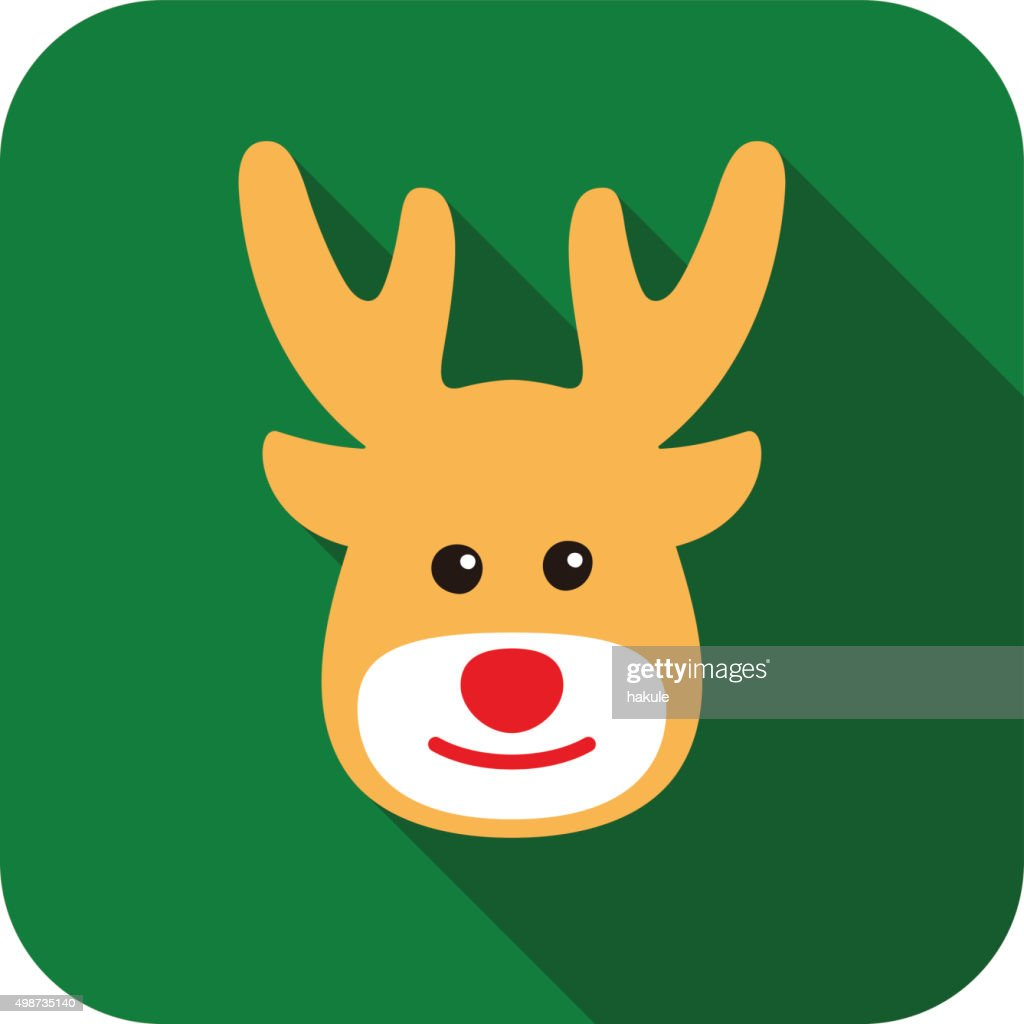 Deer animal face icon