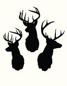 Deer Head Silhouettes
