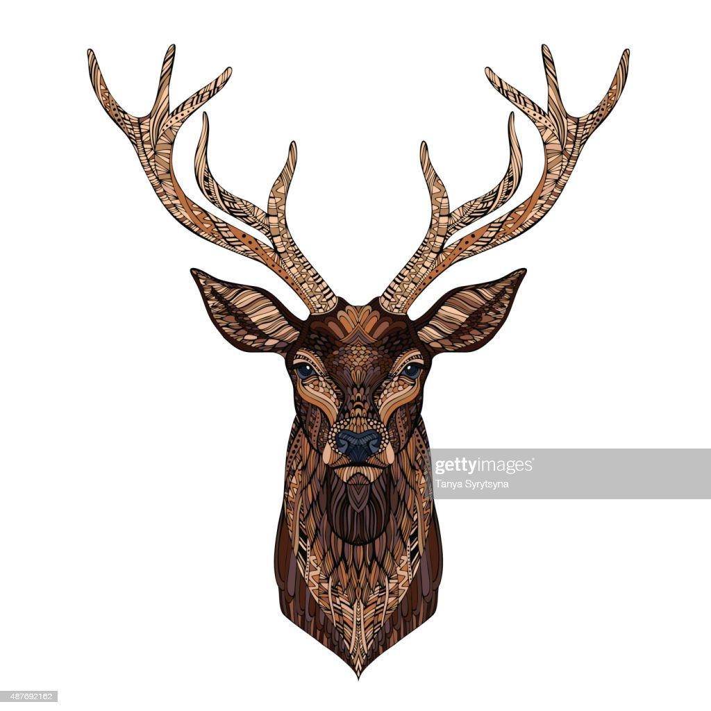 Deer head stylized in style.